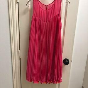 Pink w Orange Trim Summer Dress
